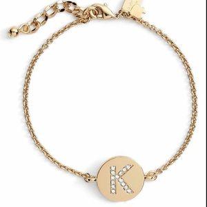 """Kate Spade One in a Million Initial """"K"""" Bracelet"""